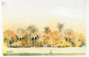 Al Ain By Oman United Arab Emirates Sketch Painting Postcard