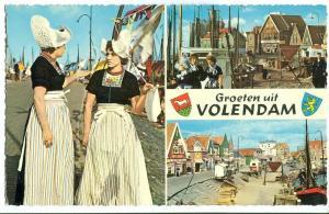 Netherlands, Groeten uit Volendam, 1960s unused Postcard