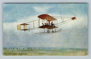 THE FARMAN BIPLANE - FAMOUS AEROPLANES - OILETTE, TUCK & SONS AVIATION POSTCARD