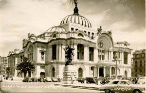 Mexico - Mexico City. Plaza of Fine Arts   *RPPC