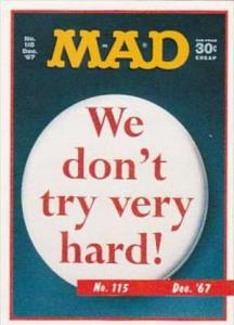 Lime Rock Trade Card Mad Magazine Cover Issue No 115 Dec 1967