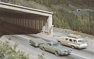 Snowsheds on the western section of the Rogers Pass near Revelstoke, British ...