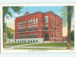 Unused Linen HIGH SCHOOL Rochester New Hampshire NH L9841