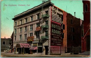 1914 Oakland, California Postcard THE ORPHEUM THEATRE Building / Street View