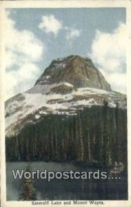 Emerald Lake Mount Wapta Canada 1916 Missing Stamp
