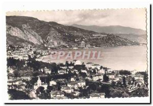 Menton Old Postcard General view to the Italian border