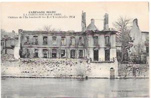 France.  Chateau de I'lle bombed in September 1914