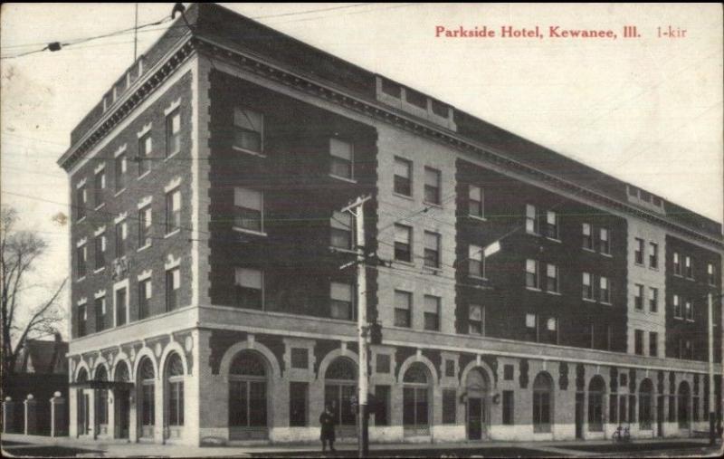 Kewanee Il Parkside Hotel C1910 Postcard