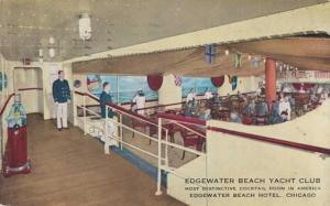 Yacht Club at Edgewater Beach Hotel - Chicago IL, Illinois - pm 1943