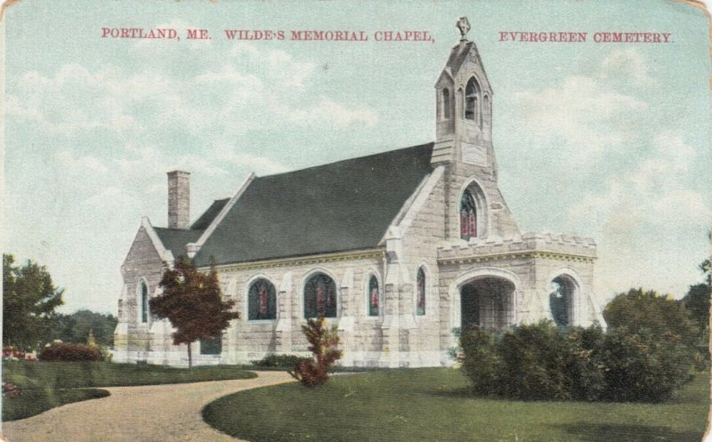 PORTLAND , Maine , 1909 ; Wilde's Memorial Chapel, Evergreen Cemetery