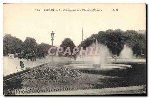 Postcard Old Paris Le Rond Point des Champs Elys?es