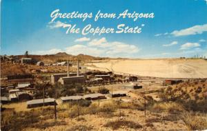GREETINGS FROM ARIZONA~THE COPPER STATE POSTCARD 1962