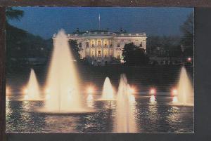 Night View White House Washington DC Postcard BIN