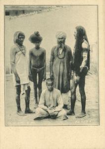 india, Native Fakirs Faqirs (1899) Clifton & Co. Court Card
