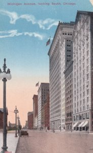 CHICAGO, Illinois, 1900-10s; Michigan Avenue, looking South