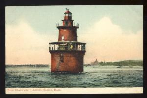 Boston, Massachusetts/Mass/MA Postcard, Deer Island Light/Lighthouse