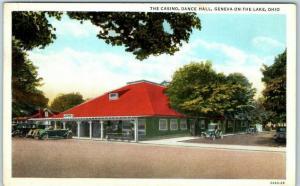Geneva-on-the-Lake, Ohio Postcard The Casino, Dance Hall Curteich 1939 Cancel