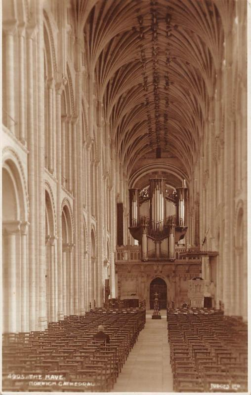 BR68683 the nave  norwich cathedral uk judges 4995  real photo