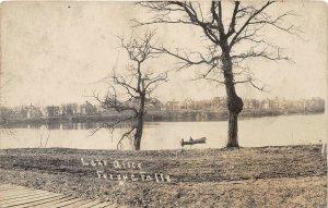 H37/ Fergus Falls Minnesota RPPC Postcard 1915 Lake Alice Park Boat Homes