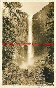 Yosemite National Park, RPPC, Bridal Veil Falls, 1936 PM, Photo