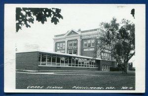 Fennimore Wisconsin wi Grade School real photo postcard RPPC