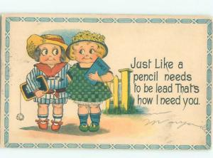 Divided-Back CHILDREN SCENE Great Postcard AA5482