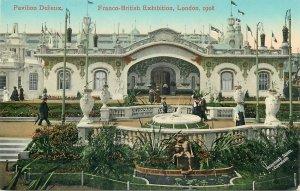 Postcard LONDON Exhibition Pavilion Delieux Franco British Expo 1908