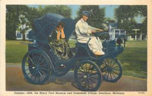 Dearborn Michigan~Daimler 1894 Henry Ford Museum & Greenfield Village 1940 Linen
