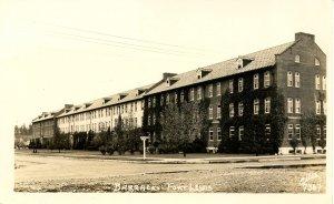 WI - Fort Lewis. Barracks     *RPPC