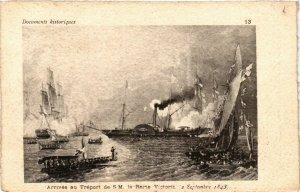 CPA Arrivée au TRÉPORT de S.M. la Reine Victoria (348216)