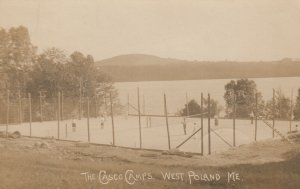 RP: WEST POLAND , Maine, 1923 ; The Casco Camps , Tennis Courts