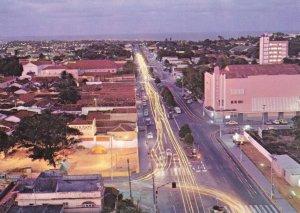 Natal at Night Aerial Illuminations Brazil Postcard