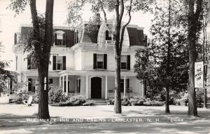 Lancaster NH~McKee Inn & Cabins~Mansard Roof~Lacy Vergeboard~Walkout 1955 RPPC
