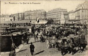 CPA MARSEILLE Le Quai de la Fraternite (339659)
