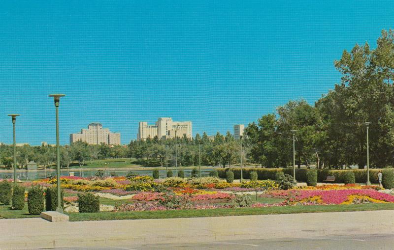 REGINA , Saskatchewan, Canada , 50-60s ; North across Wascana Lake # 2