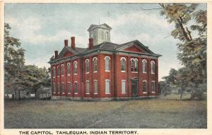F19/ Tahlequah Indian Territory Oklahoma Postcard c1910 The Capitol