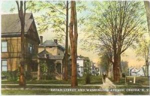 Broad Street & Washington Avenue, Oneida, New York 1900-1910s