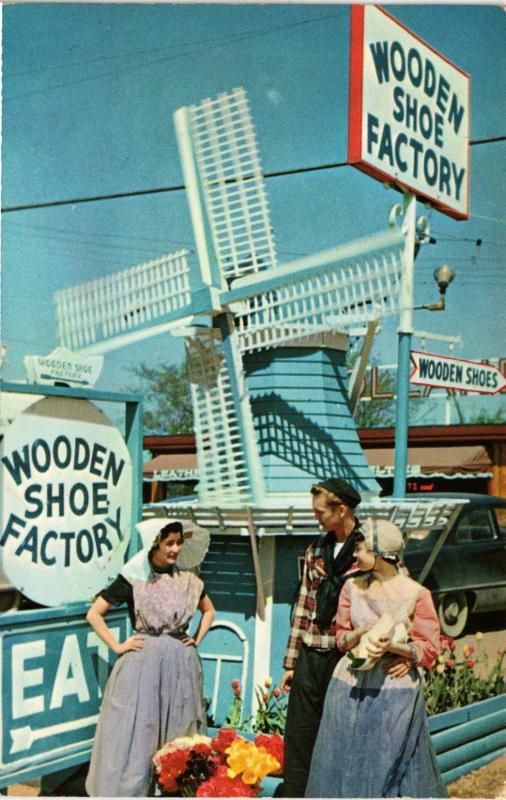 Wooden Shoe Factory Windmill Holland Michigan Hippostcard