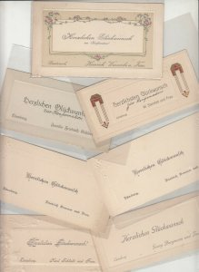 Lot 7 early embossed art nouveau confirmation greetings cards Luneburg Bardowick