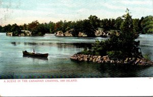 New York Thousand Islands Scene In The Canadian Channel