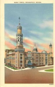 Murat Temple, Indianapolis, Indiana, unused linen Postcard