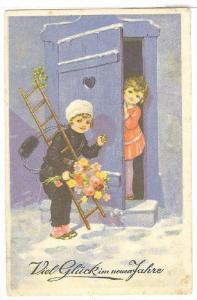 Chimney Sweep New Year greetings , PU-1929