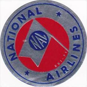 NATIONAL AIRLINES VINTAGE AVIATION LABEL