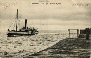 CPA Carteret - Le Cygne arrivant de Jersey (632982)