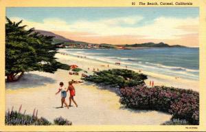 California Carmel The Beach Curteich