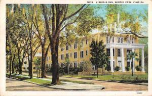 Winter Park Florida Virginia Inn Exterior View Antique Postcard J59466