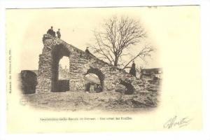 Amphotheatre Gallo-Romain de Drevant.-Etat actuel des Fouilles, France, PU-1902