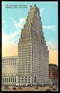 USA Paramount Broadway Building Movie Theater Cars New York City