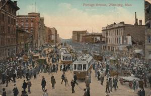 WINNIPEG , Manitoba , 1913 ; Portage Avenue