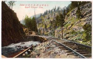 R.C.B.H & W. RR, Rapid Canyon SD